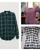 Trzy koszule plus jedna gratis HMReserved i Espiryt w kratę...