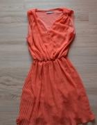 Pomarańczowa sukienka S M...