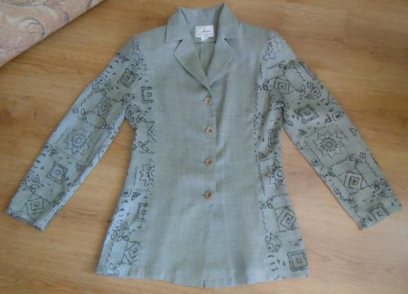 Garsonki i kostiumy Kostium komplet garsonka oliwkowy Aryton 38 M