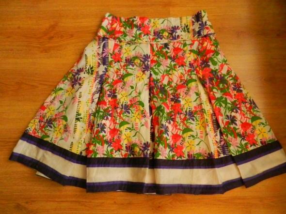 Spódnice Spódnica kwiaty kolorowa New Look 40 L