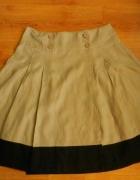 Spódnica beżowa len Betty Jackson 42 XL...