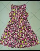 Sukienka panterka róż różowa George 14 42 XL...