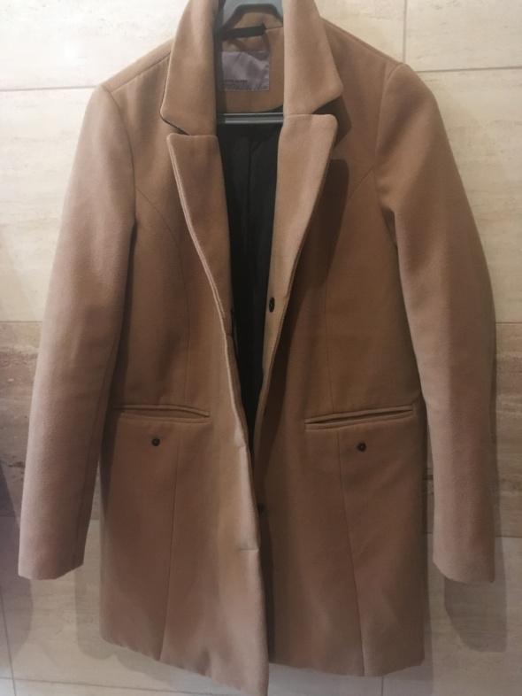 brazowy płaszcz 36 s vero moda zalando karmelowy