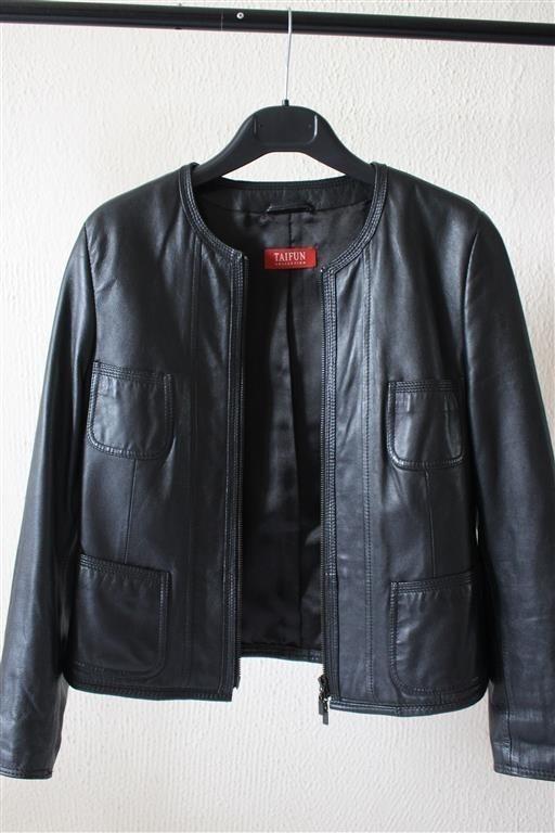 Odzież wierzchnia Czarna kurtka skórzana s