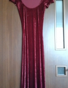 Długa welurowa sukienka...