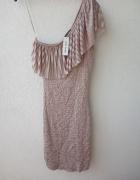 river island nowa sukienka na jedno ramię 32 34 UK 6...
