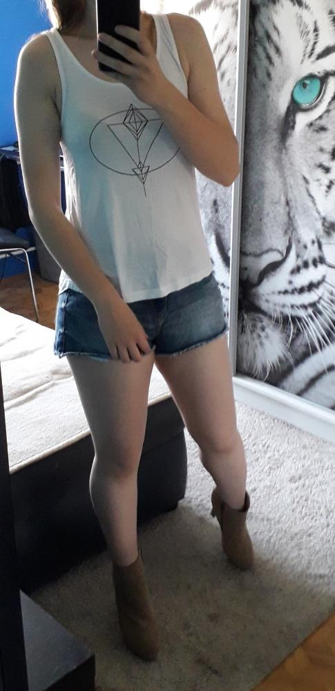 Biała letnia koszulka XS S