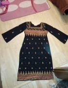 Sukienka tunika Rupali z rozcięciami po bokach rozmiar S etno b...