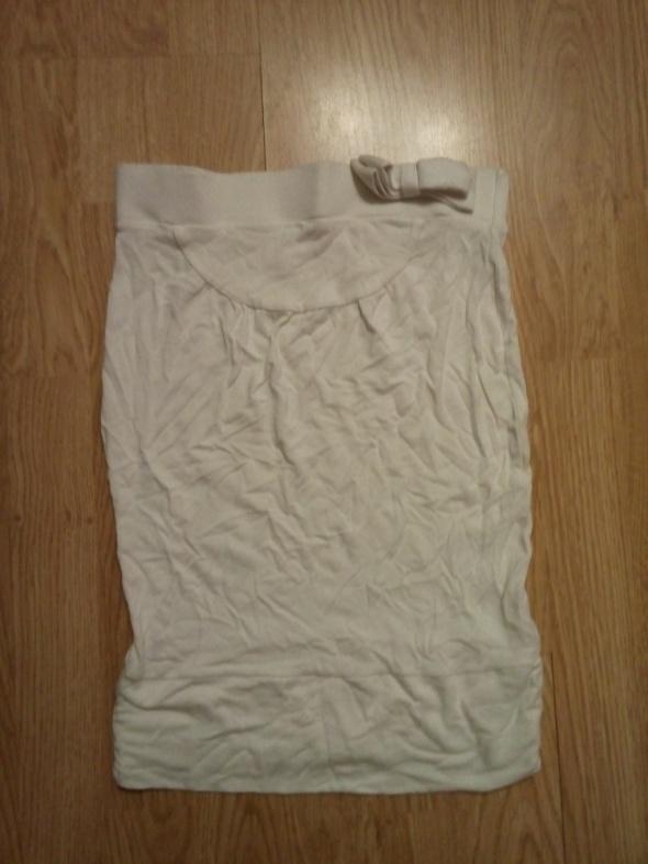 Białą bluzka tuba ZARA rozmiar S z kokardką...