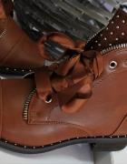 Nowe camelowe botki workery 38 wkładka 245 cm