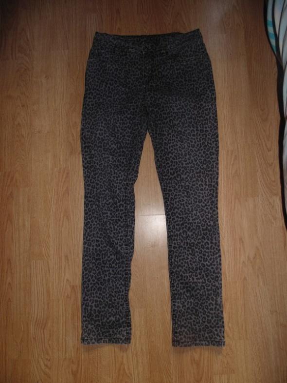 Spodnie Jeansy w panterkę C&A