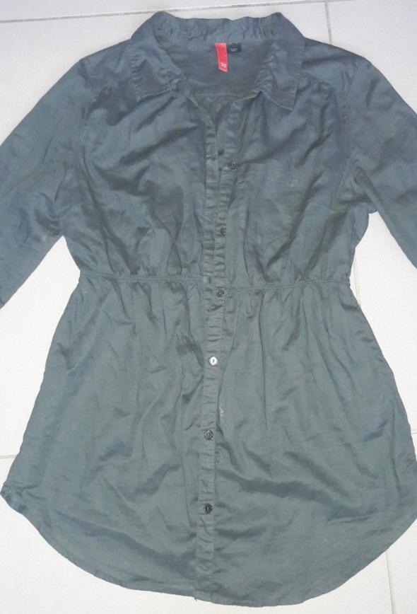 Czarna dłuzsza koszula mgiełka H&M m...