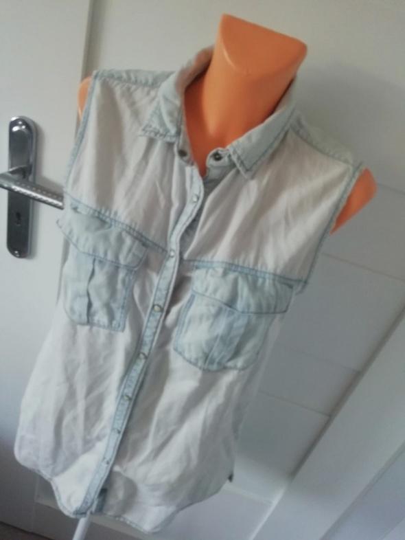 Bluzki długa bluzka jeansowa M