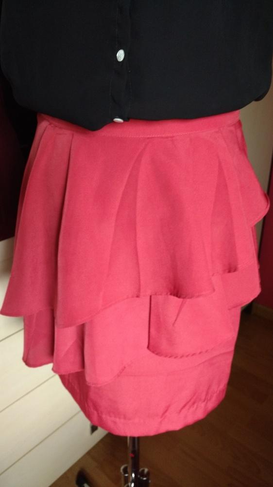 Spódnice spódnica z falbankami ceglasta HM