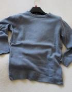 niebieski sweter zara s...