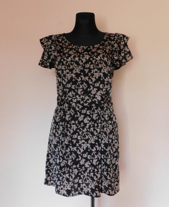 Suknie i sukienki Vero Moda sukienka czarna motyle 38