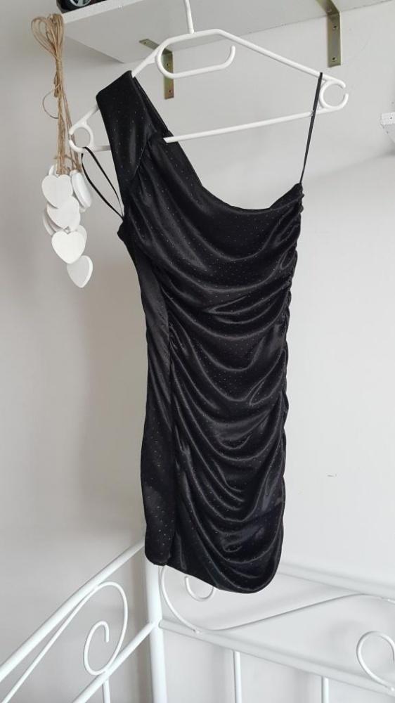 Tally Weijl sukienka mini asymetryczna marszczenia
