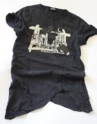 asymetryczna koszulka bawełniana s...