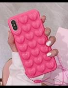 Różowa obudowa iPhone 7 8 case serduszka miękka...