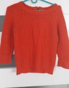 Pomaranczowy sweter z zamkiem z tylu rozm S...