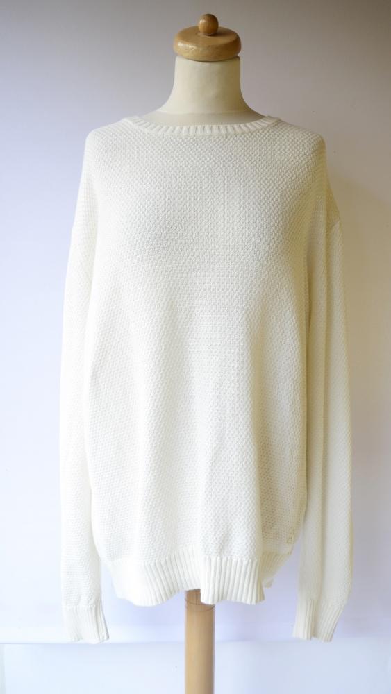 Sweter Kremowy Cubus Oversize Luzny XXL 44 Sweterek...