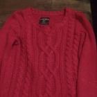 Fuksjowy krótki sweterek rozmiar S stan bdb