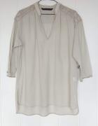 Nowa bluzka tunika Zara L 40 bawełniana na lato pastelowa pista...