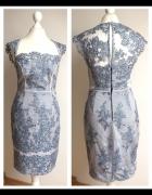 LIPSY sukienka koronkowa ołówkowa niebieska 36 S...