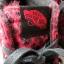 Vans platformy creepersy kolce czerwone panterka
