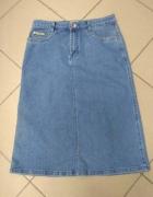 Spódnica jeans midi ołówkowa 30...
