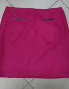 Amarantowa spódnica wełna wełniana Marks&Spencer 42...