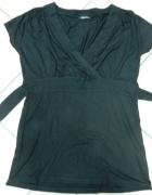 Bluzka czarna wiązana Reserved 40 L...