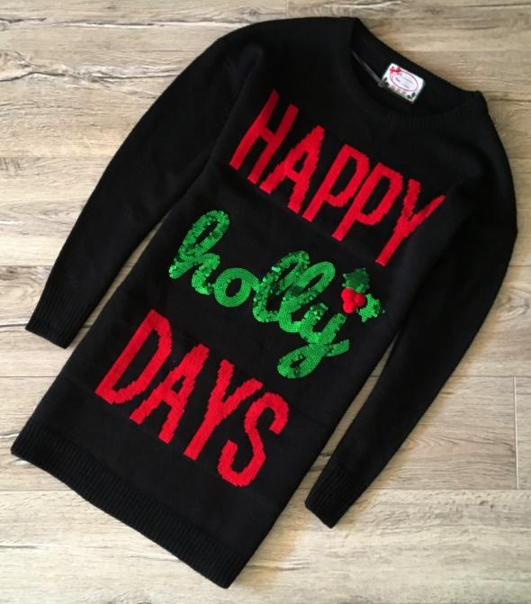 ATMOSPHERE Świąteczny Sweter Long piękny Ideał L