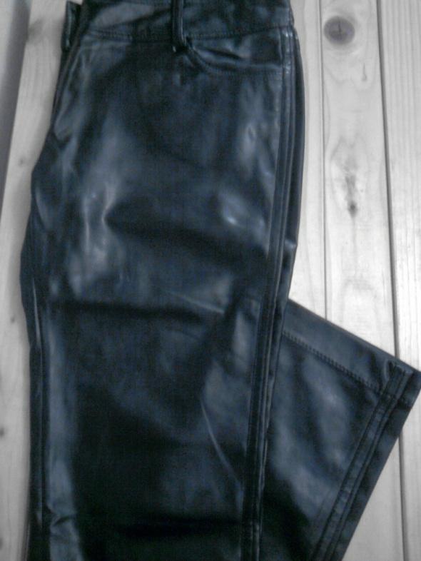 Spodnie rurki ze skóry ekologicznej punk motor