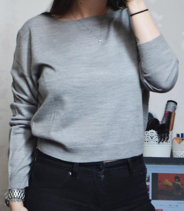 Nowy krótki sweter sweterek crop top minimalizm minimalistyczny...