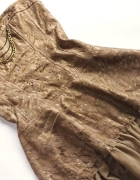 LOOK gorsetowa sukienka z łańcuszkami rozm 36...