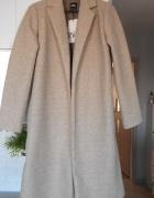 Zara nowy płaszcz beżowy kremowy jesienny...