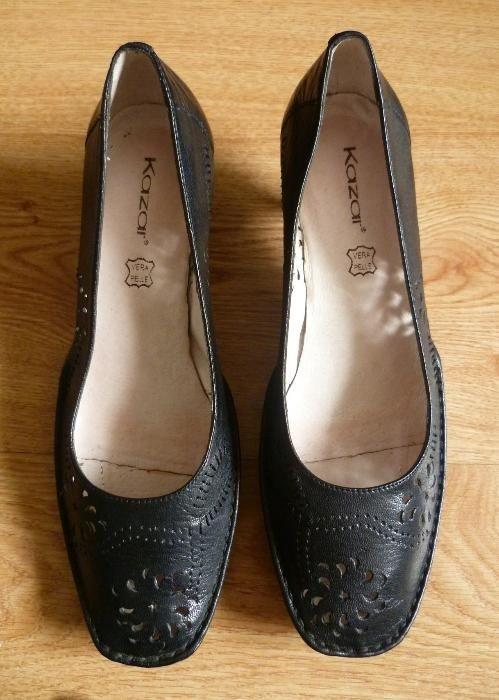 Skórzane ażurowe buty rozmiar 37 38...