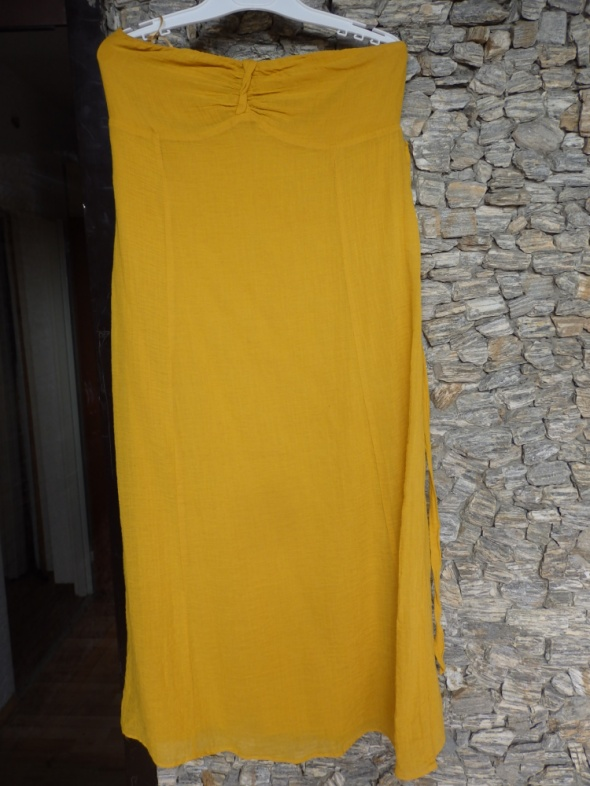 sukienka żółta letnia