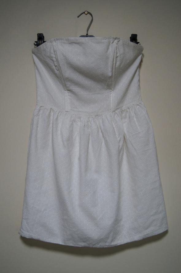 Suknie i sukienki biała sukienka S M L rozkloszowana tulipan gorset