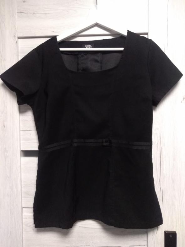 Elegancka czarna bluzka z krótkim rękawem Simon Jersey