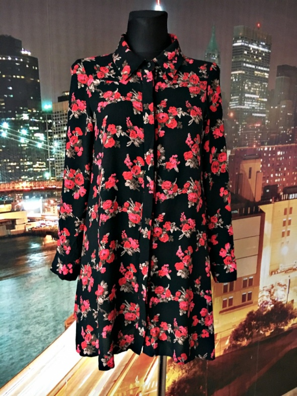 koszula trapezowa modny wzór kwiaty floral blog 34...