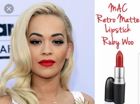 Mac szminka mattowa rubby woo retro glamour