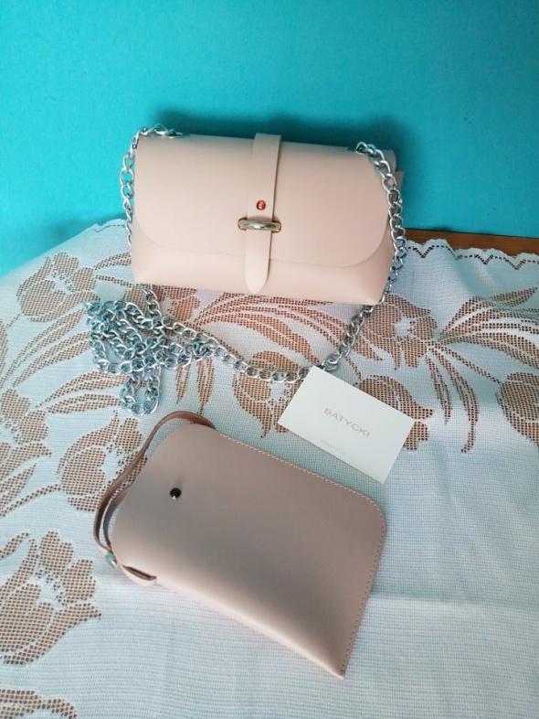 Skórzana torebka oraz etui na telefon Batycki