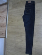 spodnie rurki jeans Levis 24 High Rise Skinny granatowe W24 L32...