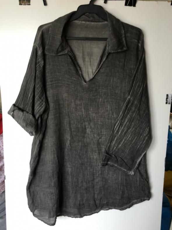 Szara bluzka mgiełka rozm XL