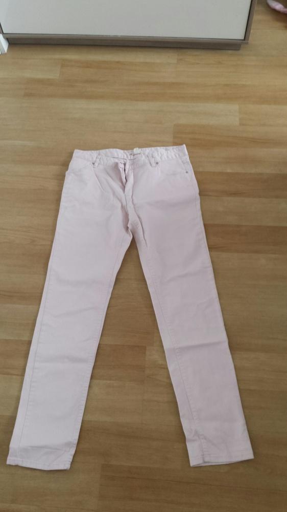 Spodnie Bladoróżowe spodnie Mango
