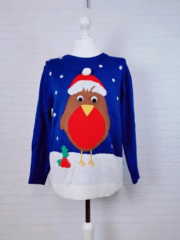 Swetry 6 34 XS Atmosphere Niebieski świąteczny sweterek