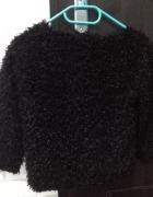 Śliczne czarne futerko bolerko S...