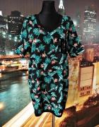 bershka mini sukienka luźny fason hawajski wzór hit blog 40 L...